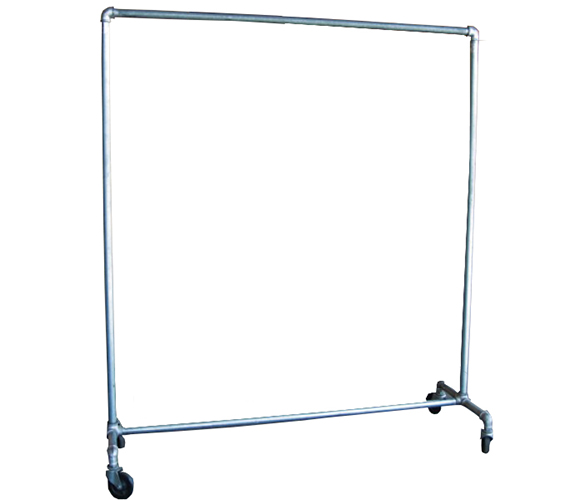 5 ft. long x 5 ft. high Single-Tier Galvanized Pipe Rack