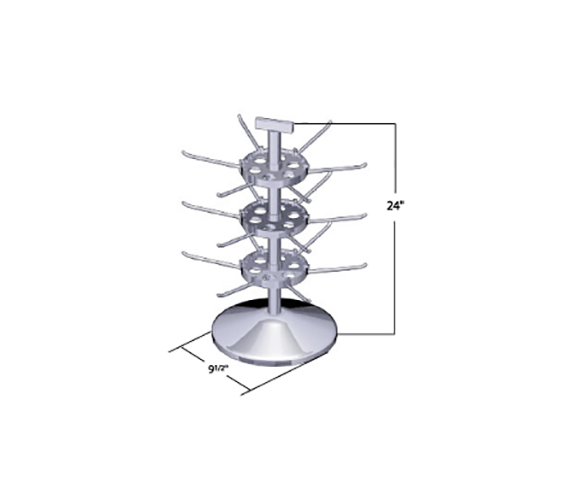 Large 3-Tier 7 Disk Counter Spinner