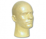 Male Suntan Styrofoam Head -12 Inches High (Case)