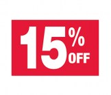7 X 11 15% Off Sign
