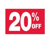 7 X 11 20% Off Sign