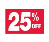 7 X 11 25% Off Sign