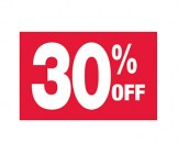 7 X 11 30% Off Sign
