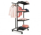 Combo T-Stand Unit with 4 Shelves