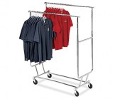 Double Heavy Duty Collapsible Rolling Rack