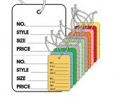 Large  Strung Perforated Price Tags