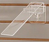 Lucite Adjustable Slatwall Heel Hold Shoe Displayer