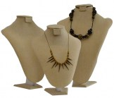 Beige Linen Necklace Form