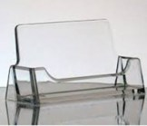 Lucite Clear Business Card Holder