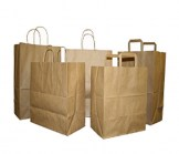 Rose Size Natural Kraft Shopping Bag
