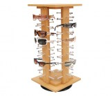 Wood Spinning Countertop Display for Sunglasses