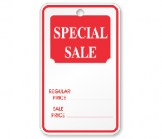 Strung Special Sale Tag-White