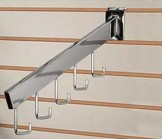 Slatwall 5 Hook Rectangular Waterfall