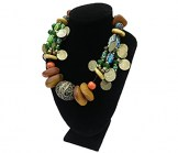 Black Large Velvet Necklace Bust Display