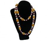 Black Small Velvet Stand Up Necklace Display