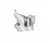 Satin Chrome Extra Heavy Duty Hangrod Bracket for Rectangular Tubing