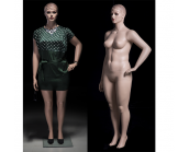 Plus Size Realistic Mannequin - Left Arm on Hip