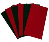 Holiday Colored Velvet Pads - 7 1/2 wide x 14 long
