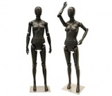 Black Female Mannequin With Flexible Head, Arms and Legs