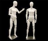 White Male Mannequin With Flexible Head, Arms and Legs