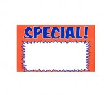 7 X 11 Paper Blank SPECIAL Orange Sign