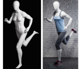 Female Runner Mannequin - Matte White
