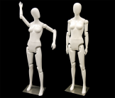 White Female Mannequin With Flexible Joints