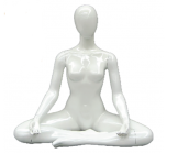 Pearl White Seated Yoga Mannequin
